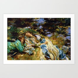 1907 Classical Masterpiece 'The Brook' by John Singer Sargent Art Print