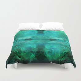 """Abstract aquamarine, deep waves"" Duvet Cover"
