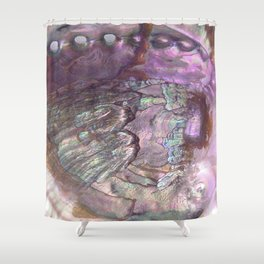 Shimmery Lavender Abalone Mother of Pearl Shower Curtain