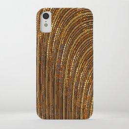zara - art deco arc arch design in bronze copper gold iPhone Case