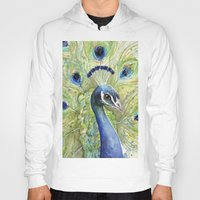 peacock Hoodies featuring Peacock by Olechka