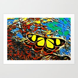 Butterfly, colorful butterfly, watercolor, color splash butterfly Art Print