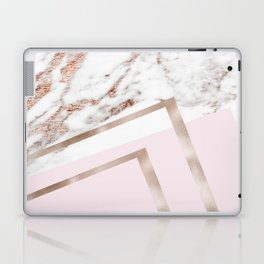 Geometric marble - luxe rose gold edition I Laptop & iPad Skin