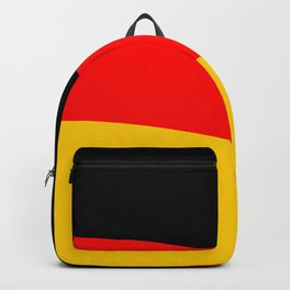 Black Red and Yellow German Flag Wave Backpack