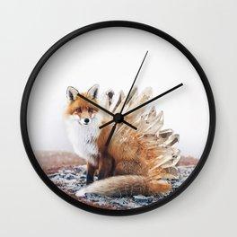 Crystal Fox Wall Clock