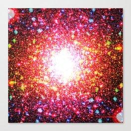 Colorful Confetti Astral Glitter Canvas Print