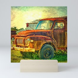 Old Rusty Bedford Truck Mini Art Print