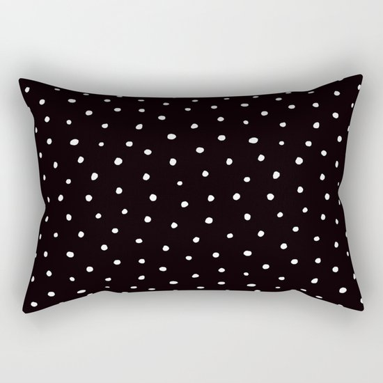 Minimal- Small white polka dots on black - Mix & Match with Simplicty of life by simplicity_of_live