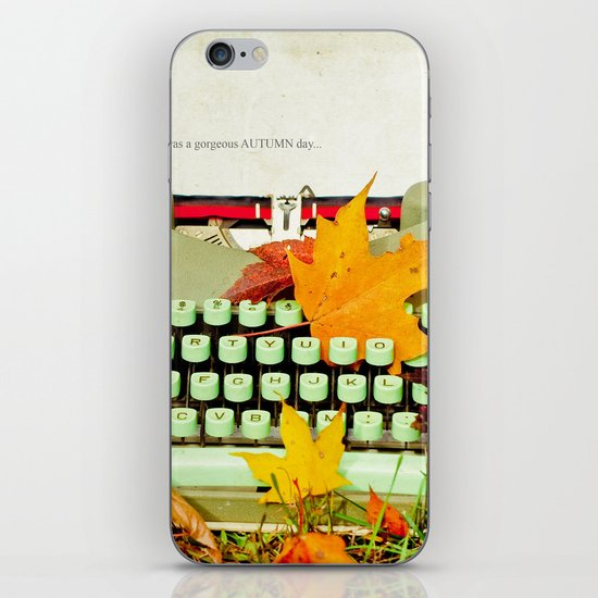 It Was a Gorgeous Autumn Day iPhone & iPod Skin