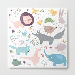 Happy Animals Metal Print