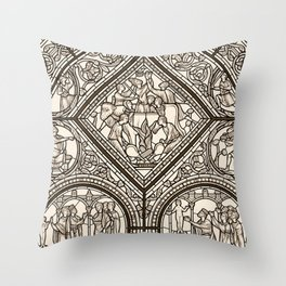 Monographie de la Cathédrale de Chartres, Paris 1867 Throw Pillow