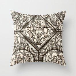 Monographie de la Cathédrale de Chartres, Paris 1867 Throw Pillow