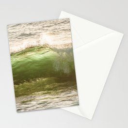Green light water surf Stationery Cards