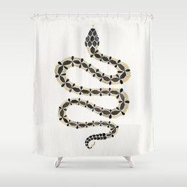 Serpent – Black & Gold Shower Curtain
