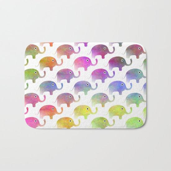 Parade Of Elephants Bath Mat