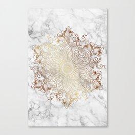 Mandala - Marble gold Canvas Print