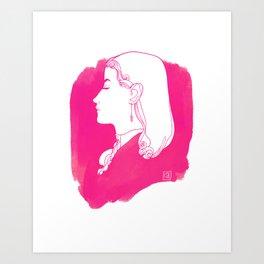 Pink Victorian Art Print