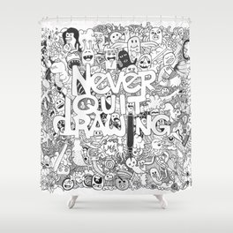 Doddle | Never Quit Drawing Shower Curtain