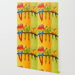 Snuggly Birds Wallpaper