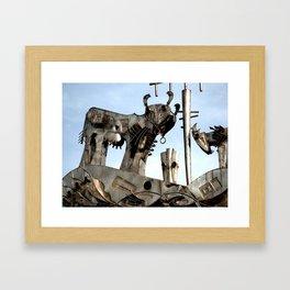 Steel Bovine Framed Art Print