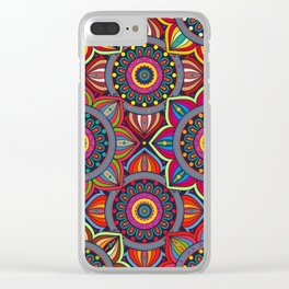 African Style No8 Clear iPhone Case