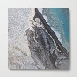 Acrylic marbling painting 0II Metal Print