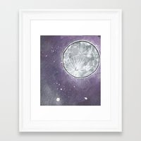 lunar Framed Art Prints featuring Lunar by Cody Fisher
