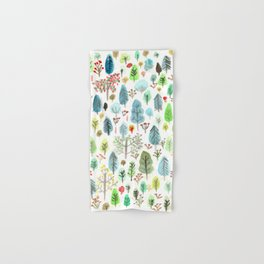 Green Tree Forest Hand & Bath Towel