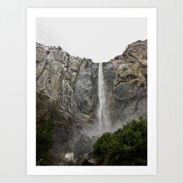 Yosemite - Braidalvail Falls Art Print