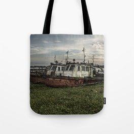 Old Police Boats Tote Bag