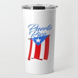 Big Puerto Rico Flag Travel Mug