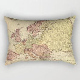Vintage map of Europe in muted colors Rectangular Pillow