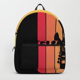 Retro Vintage Guirat Gift for Guitarist Backpack