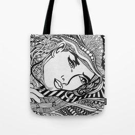 Zentangle Lichtenstein Tote Bag