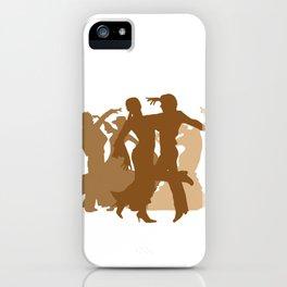 Flamenco Dancers Illustration  iPhone Case