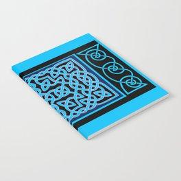 Black and Aqua Celtic Interlace Notebook