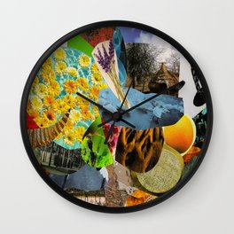 Collage 7 Wall Clock