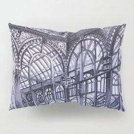 Cool grey - Crystal Palace, Park Retiro, Madrid Pillow Sham