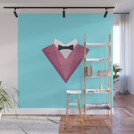 Pink Tuxedo Suit with bow tie T-Shirt Dp81h Wall Mural