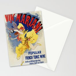 Vintage 1894 French tonic wine advert by Cheret Stationery Cards