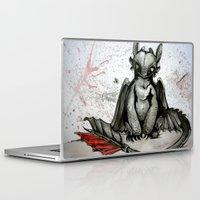 toothless Laptop & iPad Skins featuring Toothless by artbyteesa