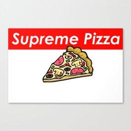 Supreme Pizza Canvas Print