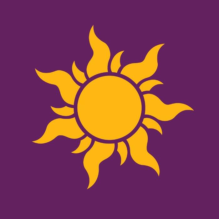 Tangled Rapunzel Sun Logo Corona Symbol Duvet Cover By