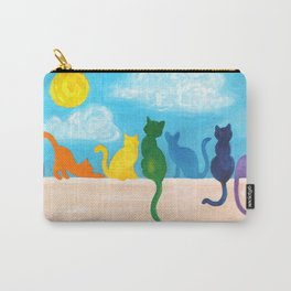 Catch A Rainbow - Cats on a Wall Carry-All Pouch