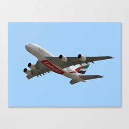 Emirates Airlines Airbus A380-861 Canvas Print