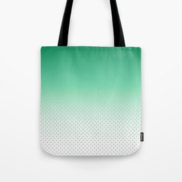 Modern forest green gradient pastel polka dots Tote Bag