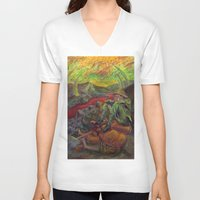 nietzsche V-neck T-shirts featuring and again and again nietzsche by hankhenry