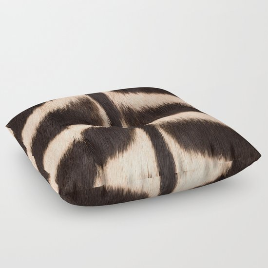 Animal Shaped Floor Pillows : Zebra - zebra stripes -zebra skin - genuine - beautiful - #society6 #buyart Floor Pillow by ...