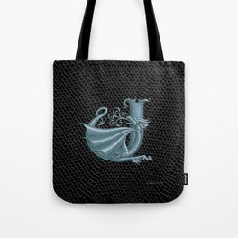 "Dragon Letter J, from ""Dracoserific"", a font full of Dragons Tote Bag"
