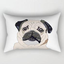 Pug Puppy Rectangular Pillow
